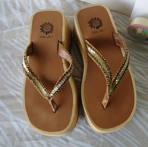 Yellow Box Platform Sandals